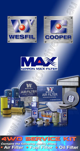 Wesfil 4WD Filter Service Kits. Oil, Air & Fuel Filters